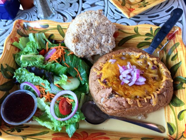 Chili Bread Bowl at The Pub & Restaurant, Gettysburg