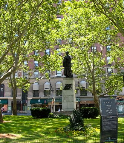 Dante Park, with its statue of the great poet and philosopher, is one of my favorite landmarks in NYC.