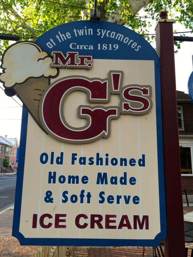 You can get homemade ice cream and sarsaparilla at Mr. G's.