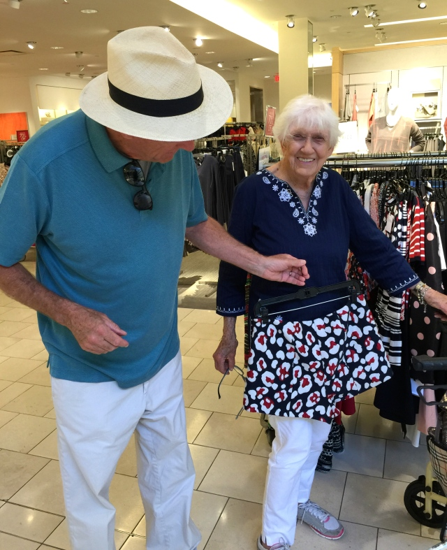Last Call, 70% off, but no, rest assured, she did not for a moment consider buying those shorts.
