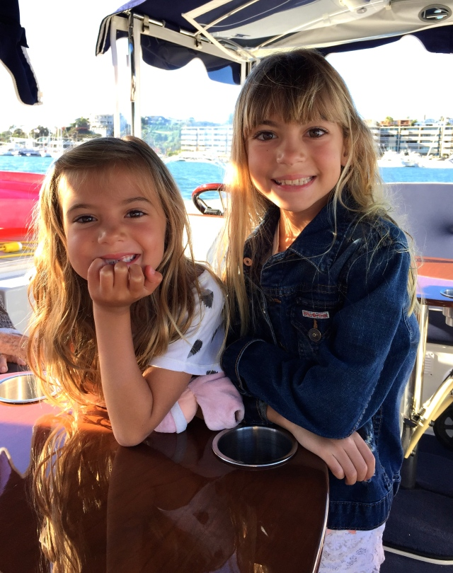These girls! Vivie and Evie on the Duffy. So precious!