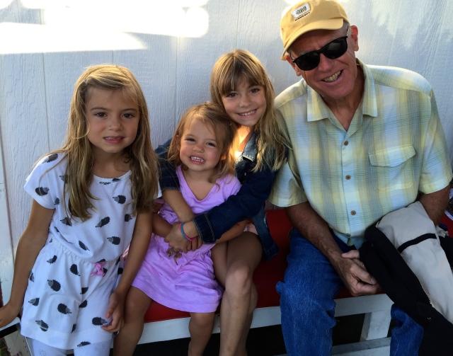Grandpa and those darling girls.