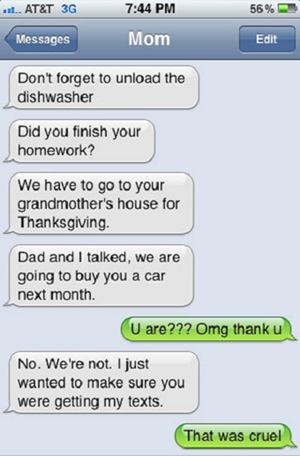 How parents converse with their children today. (image from list25.com)