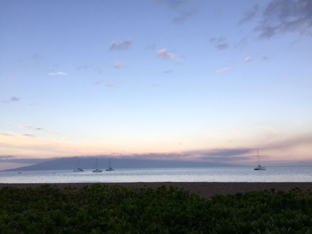 View of the island of Lanai at dawn. Monet would have loved it!