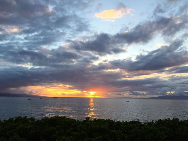 Sunset at Ka'anapali Beach.