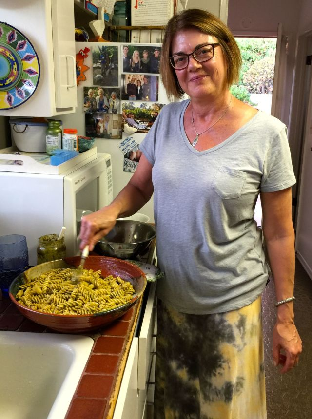 Gail and her famous pesto.