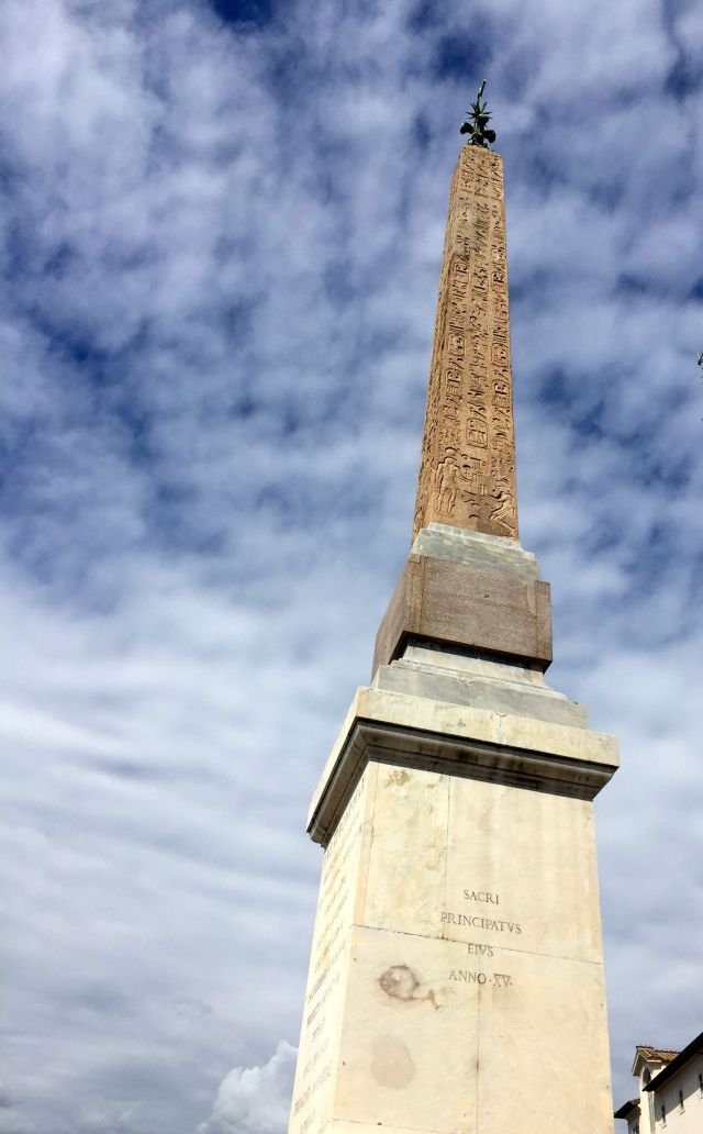 This obelisk has been in the Piazza di Spagna since 1788, courtesy of pope Pius VI.