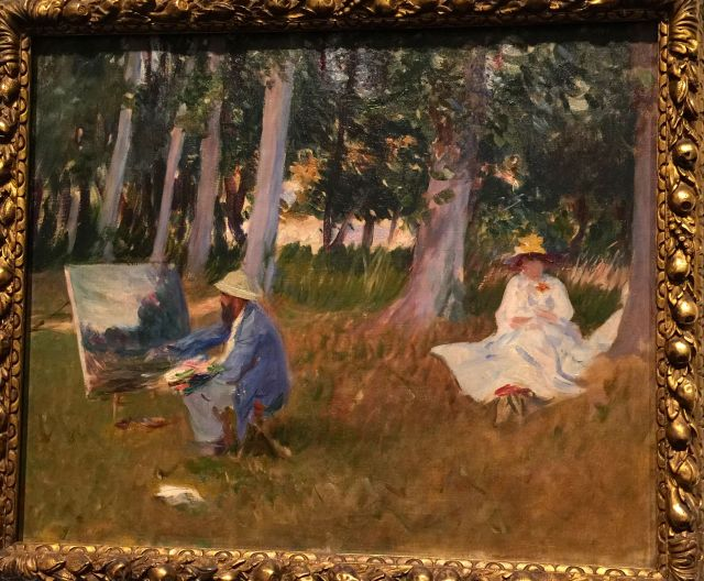 Sargent's portrait of Monet at work.