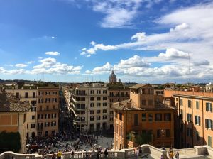 If you've been to Rome, you've seen this view from the top of the Spanish Steps.