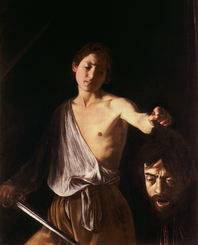 I'm not the only philistine in the room. Caravaggio's head of Goliath is a self-portrait.