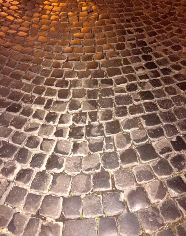Watch your step on the Roman cobblestones!