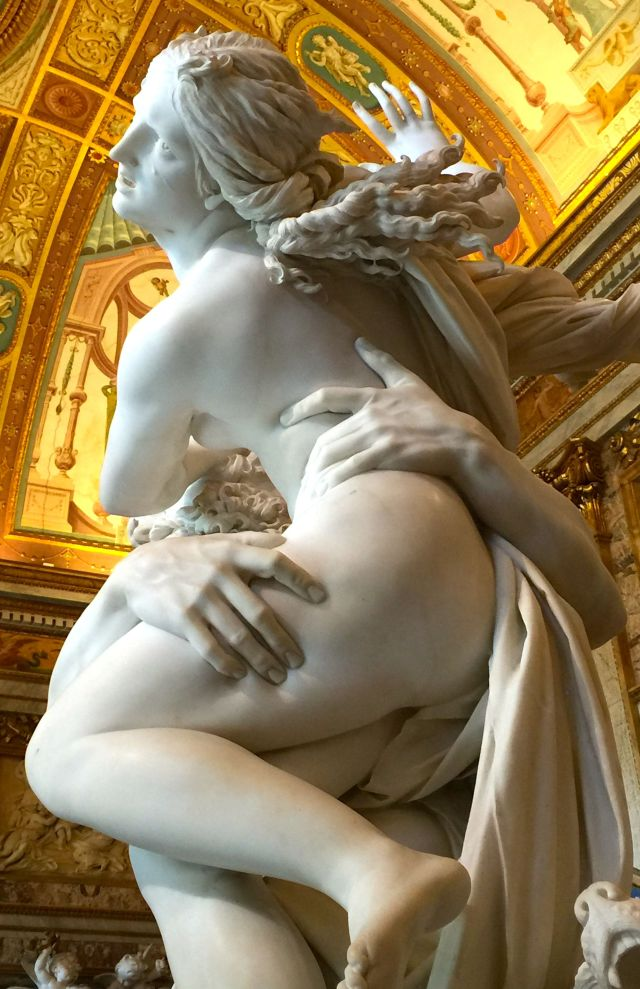 How did Bernini do it? He literally makes the marble look like flesh in The Rape of Proserpina.