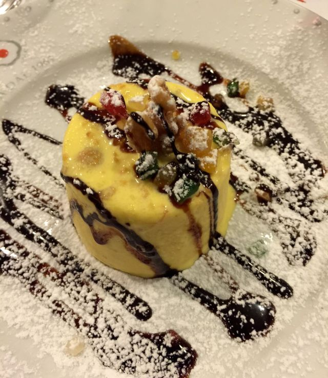 Yes, we had dessert that night. How could we resist semifreddo with crunchy almond cookies tucked inside?
