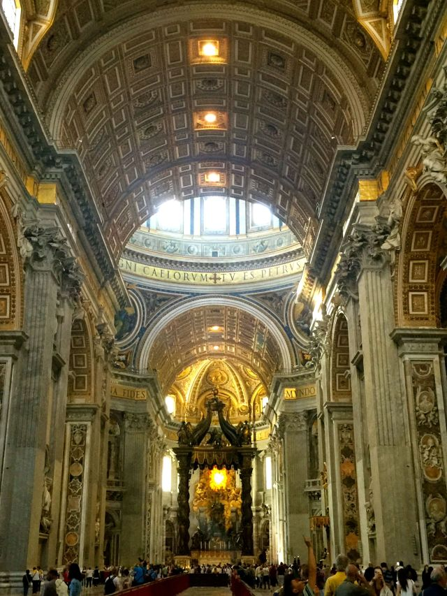 Photos are woefully incapable of conveying the scale and grandeur of St. Peter's.