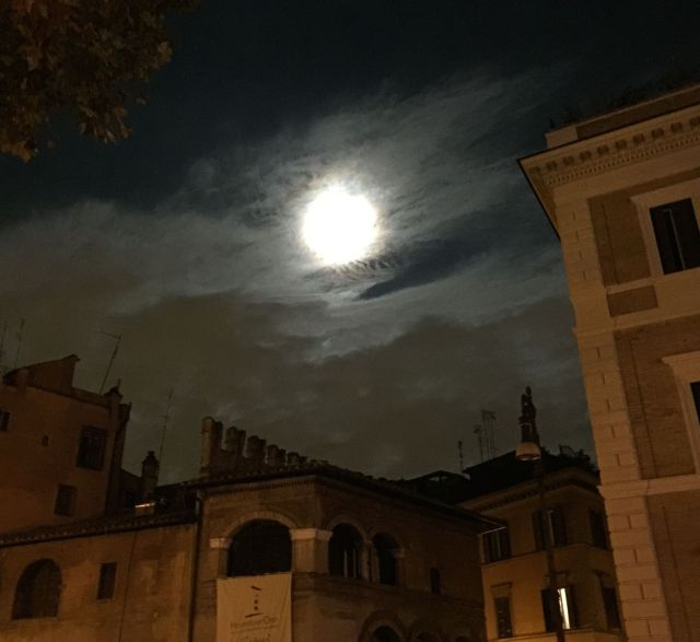 Supermoon over Rome. A beautiful night in a beautiful city.