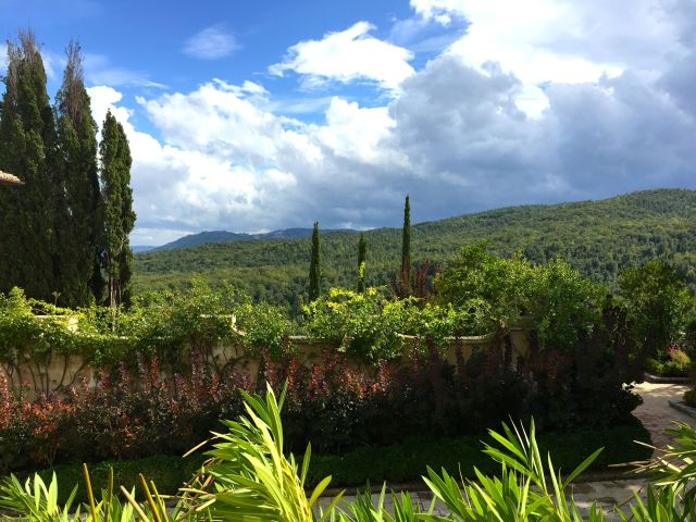 Clouds and some rain did not diminish the beauty of Tuscany.