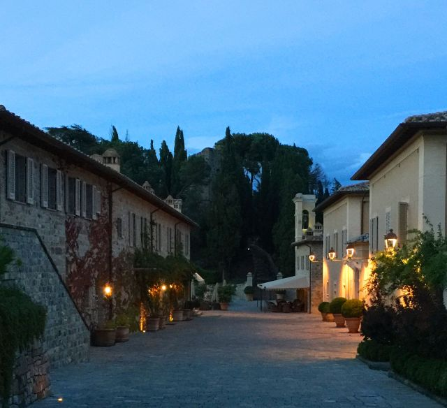 Evening falls at Castiglion del Bosco