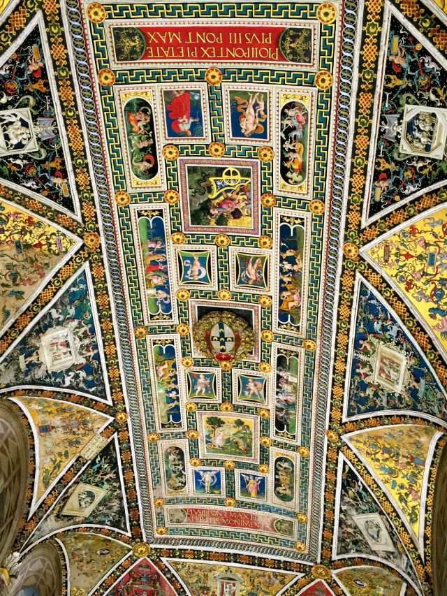 The ceiling of the Piccolomini Library