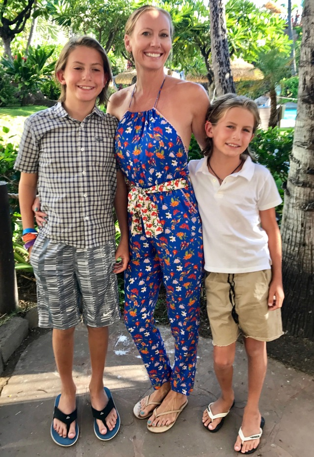 angie and boys maui 2017