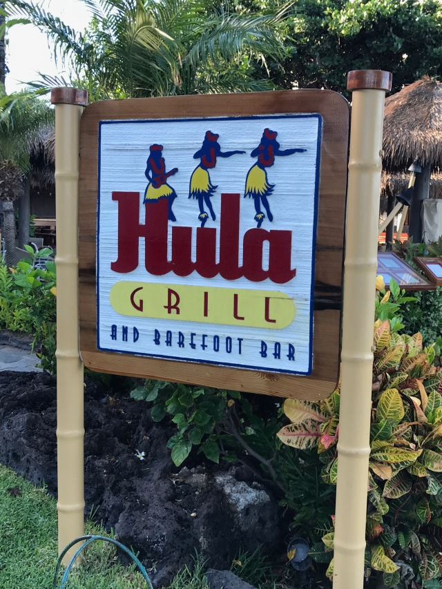 hula grill sign