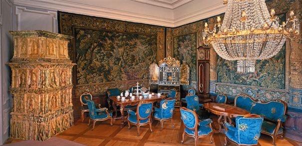 Salon knezny Statniho hradu a zamku C. Krumlov pri svickach cca 1997, nove upraven 2010